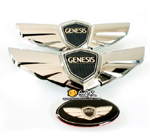 Genesis Sedan KDM Emblem Set (Hood/Trunk/Steering)