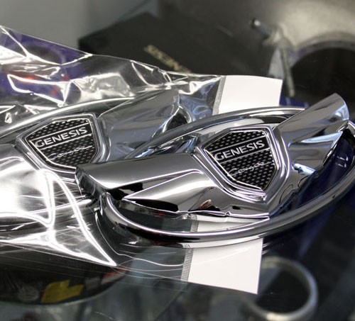 """H"" Replacement Wing Emblem Set (Chrome)"