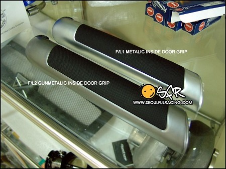 F/L2 Gunmetalic Door Handle set
