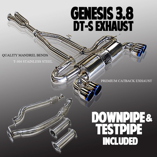 ARK DT-S Exhaust System / Polished, Burnt, Tecno Tips for 3.8 V6