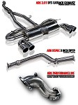 ARK DT-S Exhaust System / Polished, Burnt, Tecno Tips for 2.0T